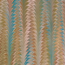 Palm Pattern Marbled paper by Miki Lovett