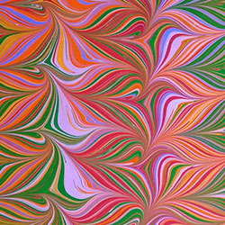 Picnic Pattern Marbled paper by Miki Lovett