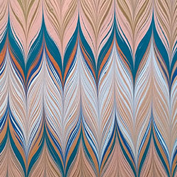 Swoon Pattern Marbled paper by Miki Lovett