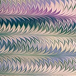 Palm Marbled paper by Miki Lovett